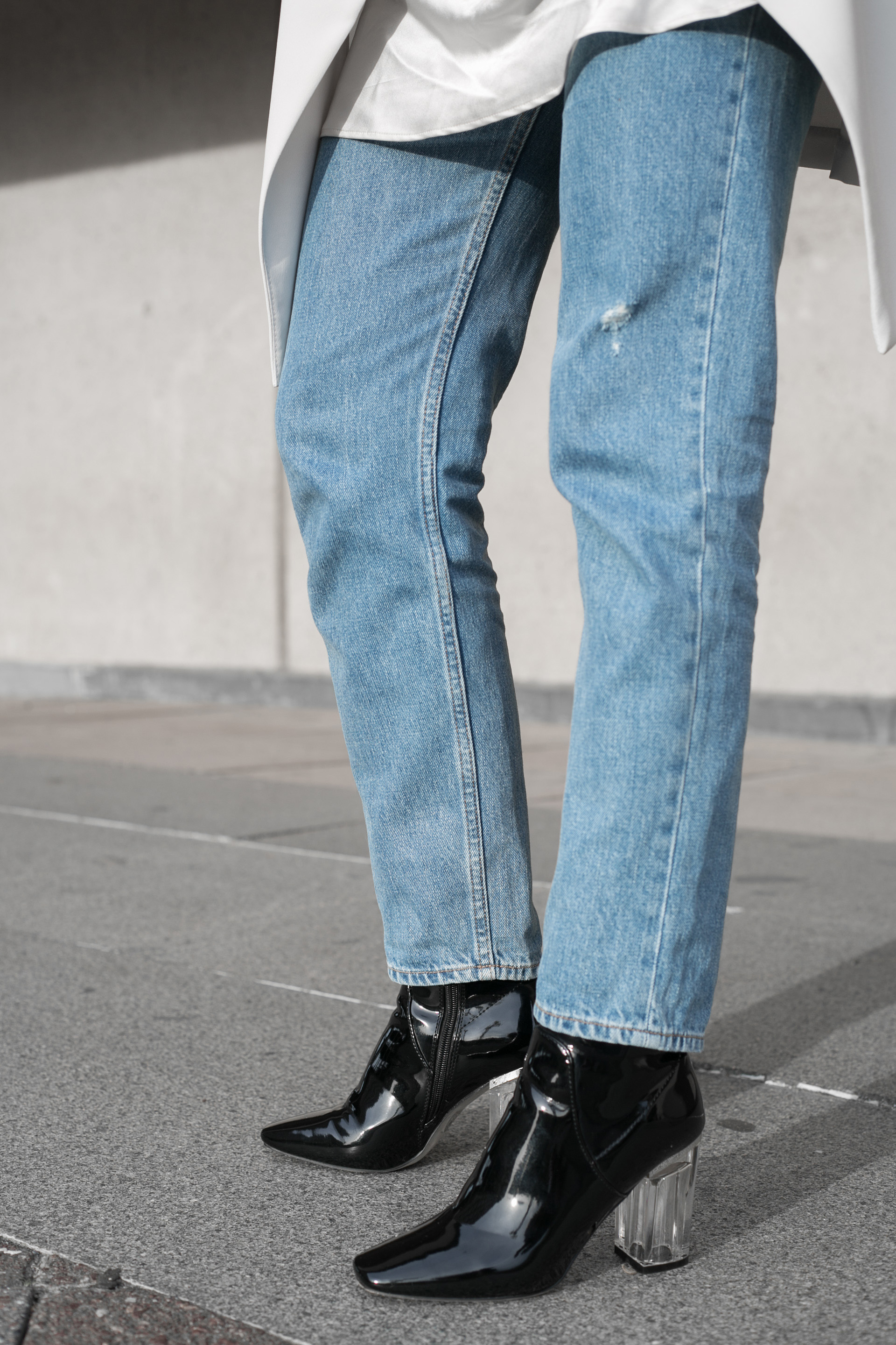 mom jeans with public desire boots